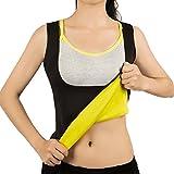 Hot Sweat Vest Neoprene Sauna Vest/Pants For Weight Loss Tummy Fat Burner Slimming Shapewear Hot Thermo Body Shaper Sweat Tank Top Capris Black No Zip