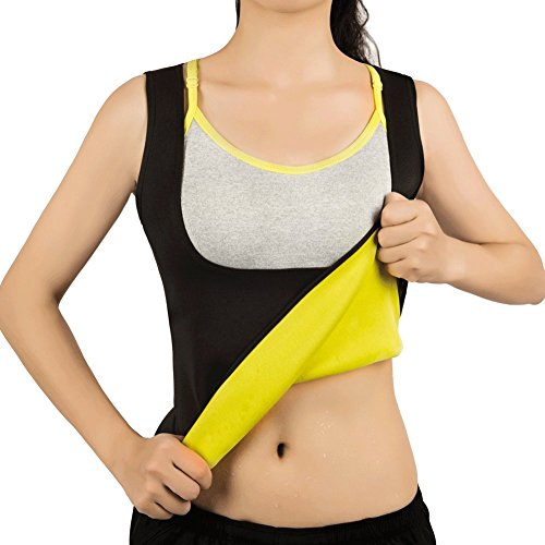 Women Hot Sweat Vest Neoprene Sauna Vest For Weight Loss Tummy Fat Burner Slimming Shapewear Hot Thermo Body Shaper Sweat Tank Top Black No Zip M