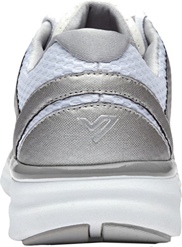 Vionic Womens Elation 1 Textile Trainers White Silver