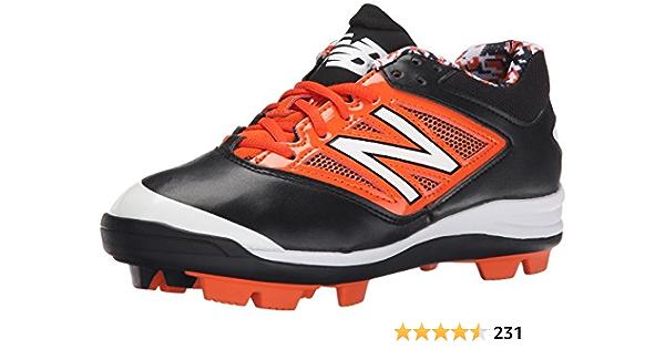 Molded Baseball Shoe, Black/Orange