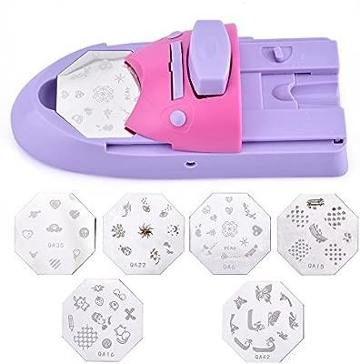 Juego de sellos de manicura para impresoras de uñas, con 6 ...