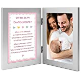 Will You Be My Godparents? from Baby Girl Godchild - Add Photo to Double Frame