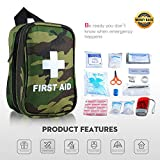 First Aid Kit Gift Medical Kit Small IFAK Kit Compact Survival Kit for Emergency Rescue FDA OSHA at Camping Hiking Backpacking Cycling Travel Sports Outdoors Car Home Workplace