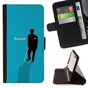 BullDog Case - FOR/LG OPTIMUS L90 / - / Ihouse - Funny Poster /- Monedero de cuero de la PU Llevar cubierta de la caja con el ID Credit Card Slots Flip funda de cuer