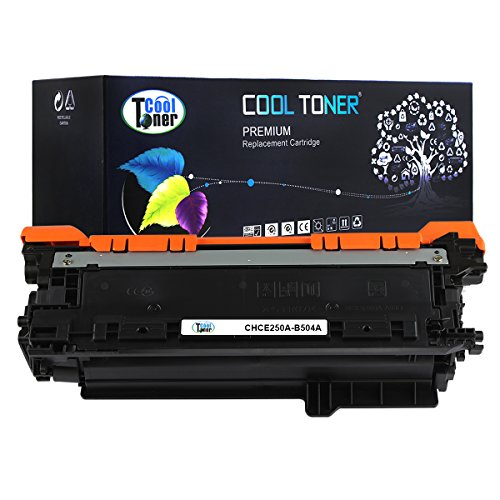 Cool Toner CHCE250A-B504A Compatible Toner Cartridge Replacement for HP CE250A 504A (Black)