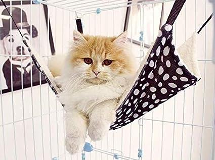 linfei Cat Hamaca Cat Litter Cat Suministros Cat Ventana Alféizar Nido Cat Cama Primavera Y Verano Desmontable Lavado Colgante Jaula De Hierro Hamaca
