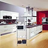 Iusun 5-Tier Storage Rack 5 Hooks Multi-function Shelves Unit Metal Durable Wire Shelving Organizer Perfect for Pantry Closet Kitchen Laundry Organization - Shipping From USA (Silver)