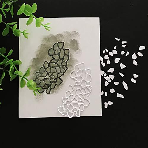 Pebbles Metal Cut Cutting Dies Mold Tool Stencil Stone Handmade DIY Craft Scrapbooking Scrapbook Album Paper Card Decorative Embossing Die Cuts - Metal Scrapbooking Pebbles