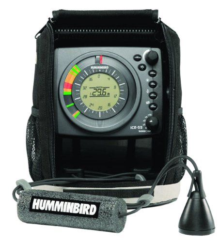 Dual Frequency Color Lcd Fishfinder (Humminbird ICE-55 Six Color Flasher with LCD)