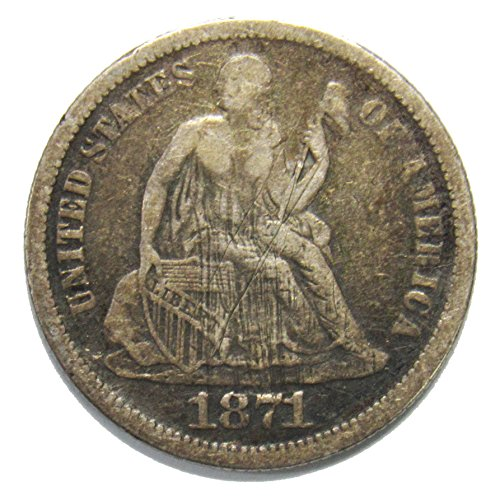 1871 Seated Liberty Dime 10¢ VF
