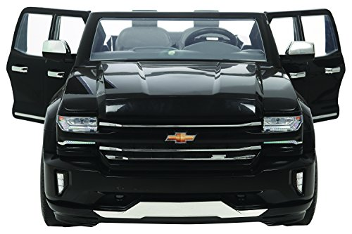 51u%2By43uQmL - Rollplay 12V Chevy Silverado Truck Ride On Toy, Battery-Powered Kid's Ride On Car - Black
