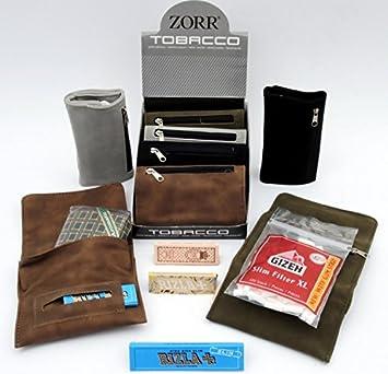 Zorr - Cartera de ante suave para llevar tabaco y papel de liar, disponible en varios colores: Amazon.es: Salud y cuidado personal