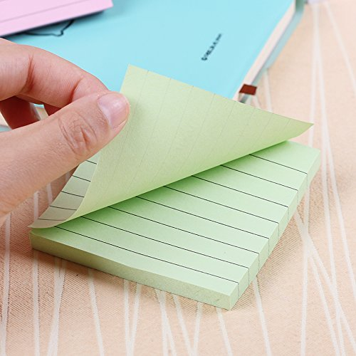 Office Stationery Sticky Notes Square Soild Color Memo Pad 80 Pages Sticker Bookmark Point by Office & School Supplies YingYing (Image #3)
