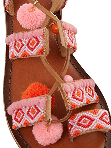 Inuovo 7166 - Sandalias de vestir de Piel para mujer Beige