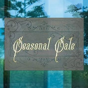 36x24 Seasonal Sale CGSignLab Victorian Frame Window Cling