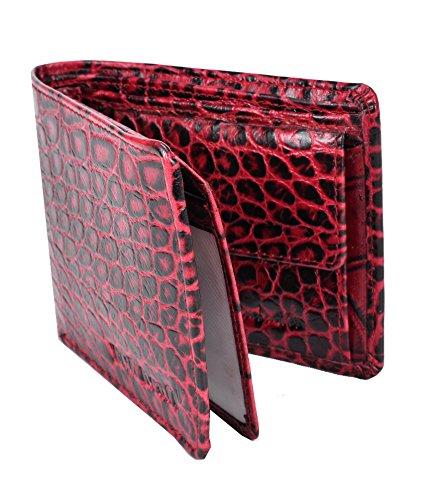 BULL KRAFT Red Genuine Leather Casual/Formal Wallet for Men/Boy  Card Slot   7  Men's Wallets