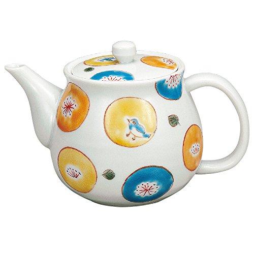 Kutani Yaki Japanese Teapot Polka Dot