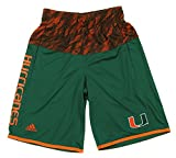 Miami Hurricanes NCAA Big Boys Amped Up Player Basketball Shorts, Green