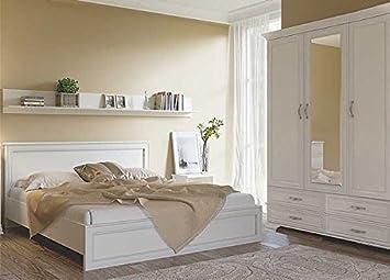 Schlafzimmer komplett Doppelbett 160x200 cm Kleiderschrank ...