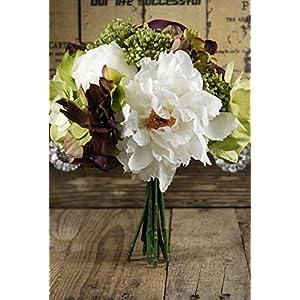 Peony and Hydrangea Bouquet 10in - Excellent Home Decor - Outdoor Indoor 29