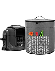 Yarwo Pressure Cooker Cover Compatible with Ninja Foodi, Small Appliance Dust Cover with Top Handle and Pocket for Attachments