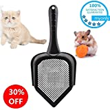 myonly Cat Litter Scoop Handle Small Holes Hamster RABIT Snake Sifter Scoop High Qulity PVC Non-Toxic
