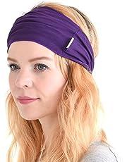 CHARM Mens Elastic Bandana Headband Japanese Long Hair Dreads Head wrap Purple
