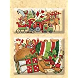 K & Company Susan Winget Glad Tidings Sleigh and Deer Layered Accents