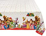 "Amscan 571554 Super Mario Brothers Multicolor Plastic Table Cover, Party Favor 54"" x 96"" 1 ct"