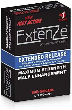 Extenze Maximum Strength Male Enhancement Nutritional Supplement Liquid Gelcaps 30 Gelcaps