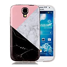 Galaxy S4 Marble Case, Harsel Ultra Thin Premium Stone Texture Collection Hybrid Flexible Light Weight Soft TPU Bumper Anti-Scratch Protective Durable Case Cover for Samsung Galaxy s4 (Pink)