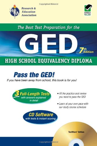 Download GED w/ CD-ROM (REA) - The Best Test Prep for the GED: 7th