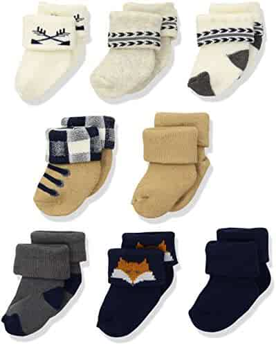 Hudson Baby Infant & Toddler Socks, 8-Pack