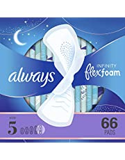 Always Infinity Feminine Pads with Wings for Women, Size 5, Extra Heavy Overnight,