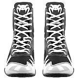 Venum Elite Boxing Shoes - Black/White - Size 11