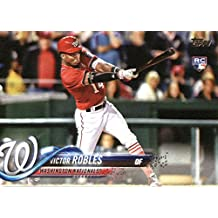 2018 Topps #166 Victor Robles Washington Nationals Rookie Baseball Card