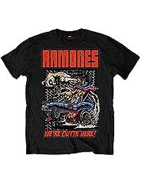 Ramones Men's Outta Here T-shirt Black