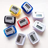 kaaka Portable Mini Pedometer Digital LCD Counter Meter for Sports Walking Running Step Daily Target
