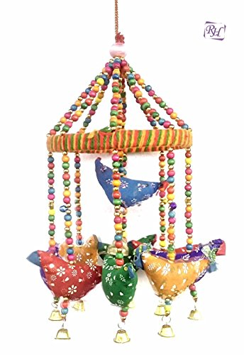 Handmade Decorative Door Hanging Bell Bird Shandler for Home Decoration Hanging Ornament