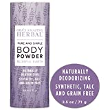 Natural Body Powder, No Talc, Corn, Grain or Gluten, Blissful Earth Scent (Lavender, Clary Sage and Vetiver Essential Oils), Ora's Amazing Herbal