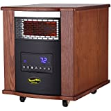 Thermal Wave by SUNHEAT TW1500 3 Year Warranty Infrared Heater with Remote Control - Modern Oak