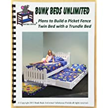 """Trundle Bed DIY Woodworking Plan to Build Your Own Picket Fence Model """"Pea Patch"""""""
