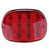 MagiDeal LED Tail Running License Brake Light Lamp Bulb Lens for Harley - Red