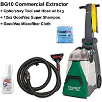 Bissell BG10 Big Green Deep Cleaning Machine Bundle Kit with Upholstery Tool Kit GoodVac Cleaning Cloth GoodVac Super Shampoo Carpet Shampoo
