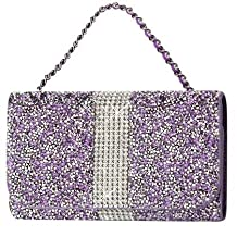 Purple Diamond Bling Wallet and Credit Card Case fits LG G3 with an Otterbox Defender case on it.