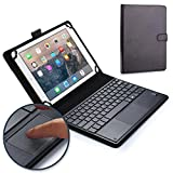 Sony Xperia Tablet Z keyboard case, COOPER TOUCHPAD EXECUTIVE 2-in-1 Wireless Bluetooth Keyboard Mouse Leather Travel Cases Cover Holder Folio Portfolio + Stand LTE Wi-Fi SGP321 SGP311 SGP312 (Black)