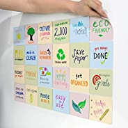 mcSquares Stickies Dry-Erase Sticky Notes Colors: Reusable Whiteboard Stickers 4 inch Color 24 Pack - Great fo