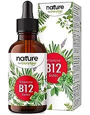 Vitamin B12 Droppar - 75 ml (1950 Veganska Droppar) - 2 Former (Metyl- & Adenosylkobalamin) - Utan Alkohol - Hög Biotillgänglighet