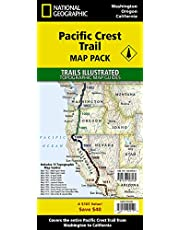 National Geographic Trails Illustrated Pacific Crest Trail Map: Prepack of 11