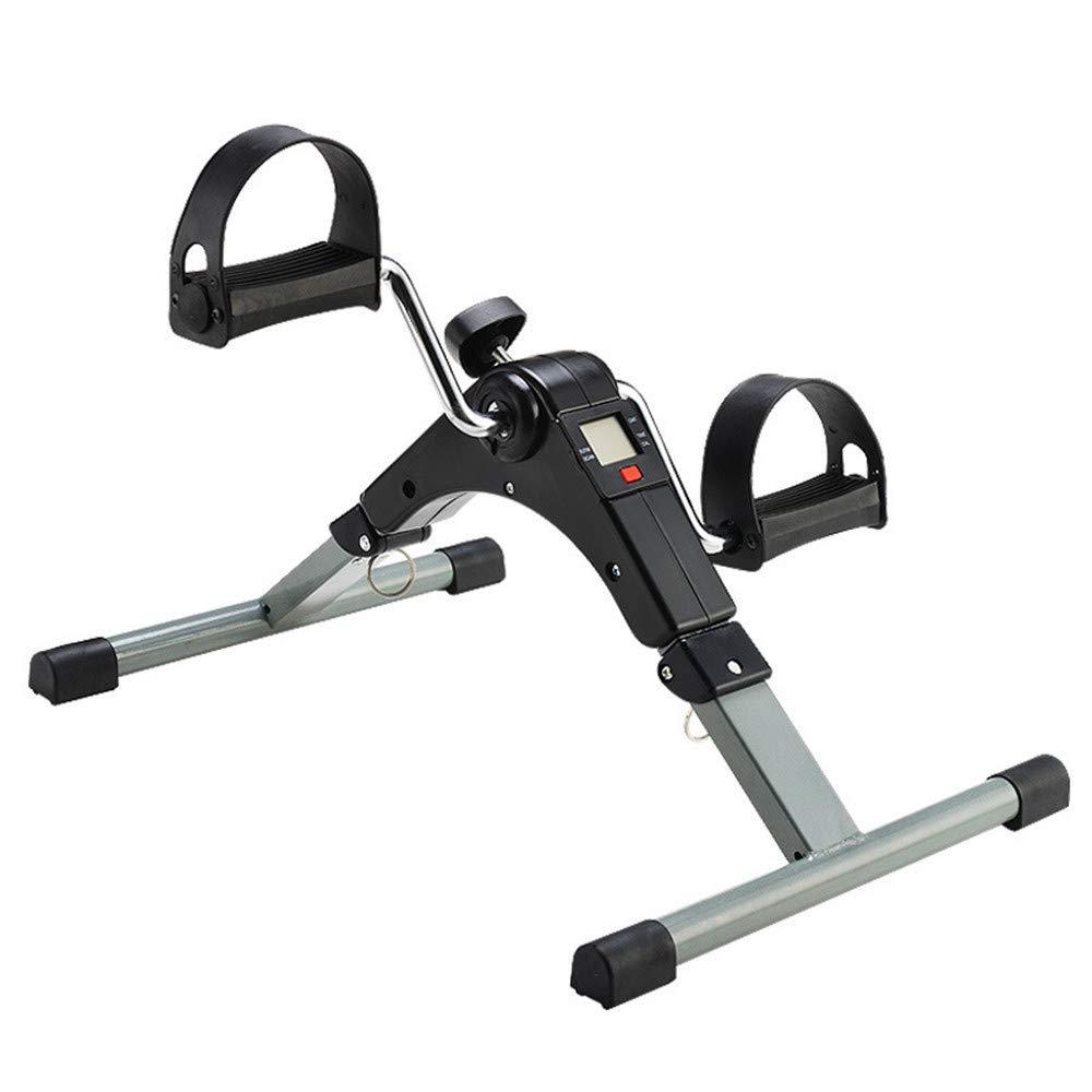 Dfghbn Mini Bike für Arme und Beine Faltender Arm-und Bein-Pedal-Exerciser mit LCD-Anzeige tragbarer Innenmini-Hometrainer-Widerstand justierbar Stepper mit elastischen Bändern